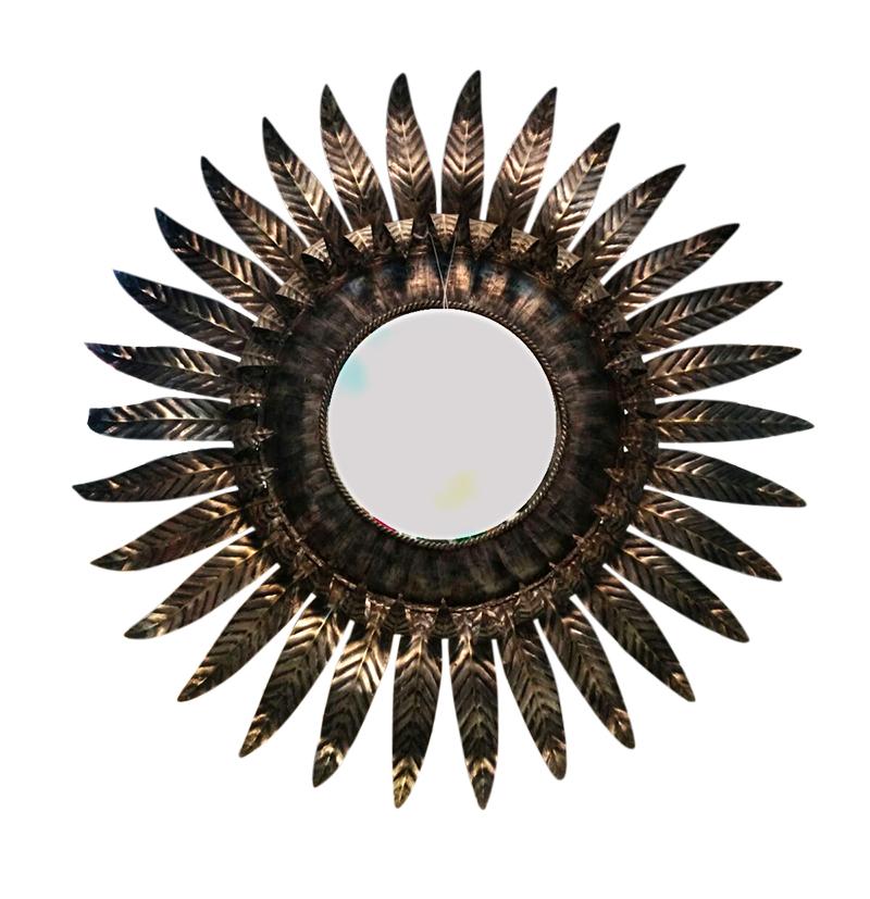 Impresionante espejo sol locobaroco - Espejo sol dorado ...