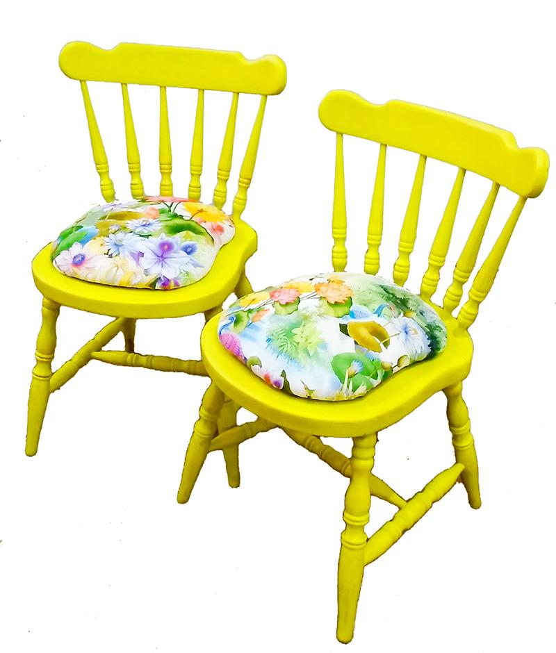 sillas amarillas locobaroco